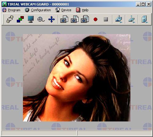 Главное окно программы TIREAL WEBCAM GUARD